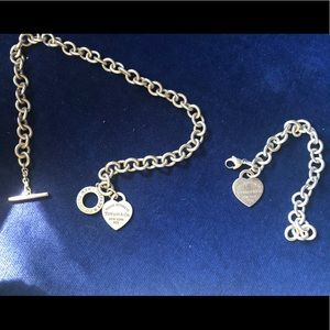 Tiffany's toggle heart necklace and bracelet